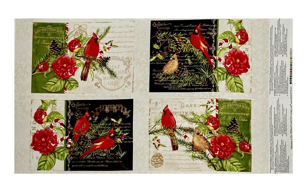 Christmas in the Wildwood Placemats Panel