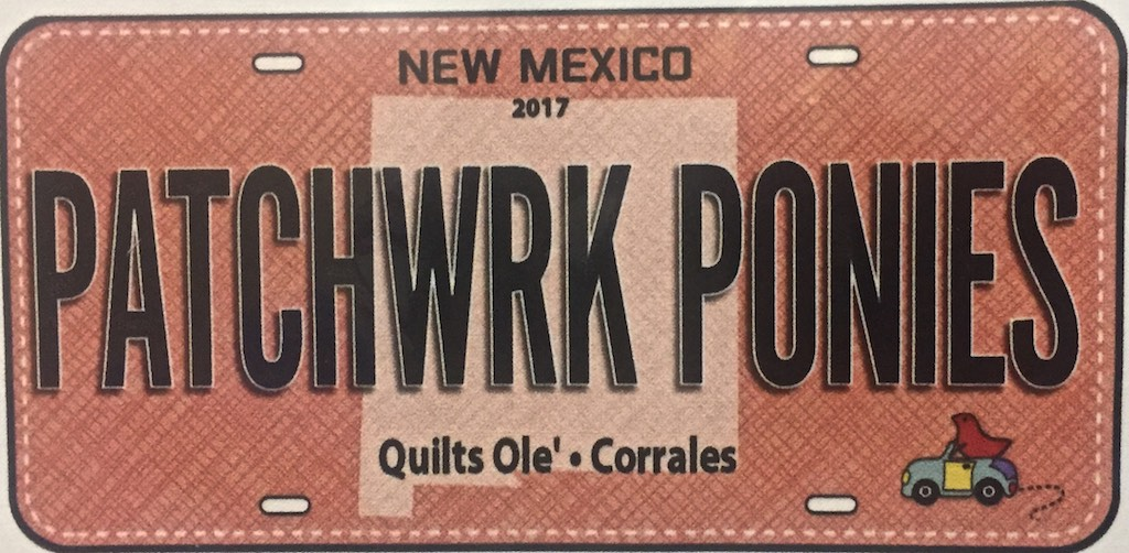2017 New Mexico Patchwork Ponies License Plate